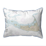 Nantucket Island, MA Nautical Chart 20 x 24 Pillow