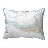 Nantucket Island, MA Nautical Chart 20 x 24 Pillow