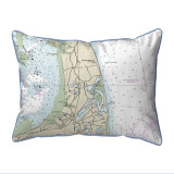 Cape Cod - Nauset Beach, Massachusetts Nautical Chart 20 x 24 Pillow