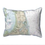 Cape Cod - Nauset Beach, Massachusetts Nautical Chart 20 x 24 Pillow