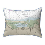 Cape Cod - Sandy Neck, Massachusetts Nautical Chart 20 x 24 Pillow