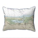 Cape Cod - Sandy Neck, Massachusetts Nautical Chart 20 x 24 Pillow