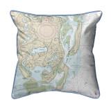 Chatham Harbor, Massachusetts Nautical Chart 22 x 22 Pillow