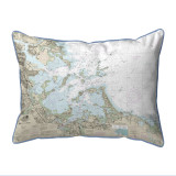 Boston Harbor, Massachussets Nautical Chart 20 x 24 Pillow