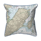 Marblehead, MA Nautical Chart 22 x 22 Pillow