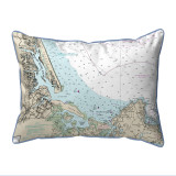 Plum Island Sound, MA Nautical Chart 20 x 24 Pillow