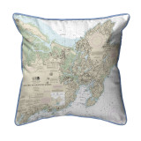Ipswich Bay to Gloucester Harbor, MA Nautical Chart 22 x 22 Pillow