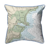 Rye Harbor, New Hampshire Nautical Chart 22 x 22 Pillow