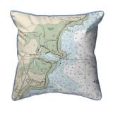 Rye Harbor, New Hampshire Nautical Chart 22 x 22 Pillow