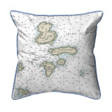 Isle of Shoals, Maine Nautical Chart 22 x 22 Pillow