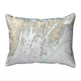 Muscongus Bay, Maine Nautical Chart 20 x 24 Pillow