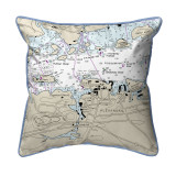 Alexandria Bay, New York Nautical Chart 22 x 22 Pillow