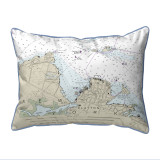 Clayton, New York Nautical Chart 20 x 24 Pillow