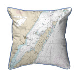 Door County, Green Bay, Wisconsin Nautical Chart 22 x 22 Pillow