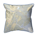 Savannah River and Wassaw Sound, Georgia Nautical Chart 22 x 22 Pillow