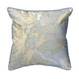 Savannah River and Wassaw Sound, Georgia Nautical Chart 22 x 22 Pillow
