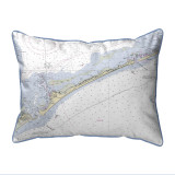 Ocracoke Inlet, North Carolina Nautical Chart 20 x 24 Pillow