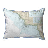 Crystal River to Horseshoe Point, Florida Nautical Chart 20 x 24 Pillow