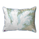 Chesapeake Bay - Pocomoke and Tangier Sounds, Virginia Nautical Chart 20 x 24 Pillow