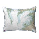 Chesapeake Bay - Pocomoke and Tangier Sounds, Virginia Nautical Chart 20 x 24 Pillow