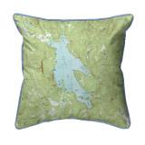 Newfound Lake, New Hampshire 22 x 22 Nautical Map Pillow