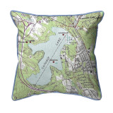 Canobie Lake, New Hampshire Nautical Map 22 x 22 Pillow