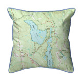 Square Pond, Maine Nautical Map 22 x 22 Pillow