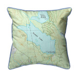 Sunset Lake, New Hampshire Nautical Map 22 x 22 Pillow