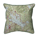 Lake Winnipesaukee, New Hampshire Nautical Map 22 x 22 Pillow