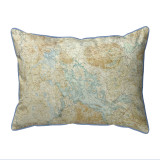 Winnipesaukee, New Hampshire Nautical Map 20 x 24 Pillow