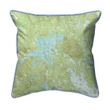 Squam Lake, New Hampshire Nautical Map 22 x 22 Pillow