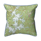 Lake Martin Alabama 22 x 22 Nautical Chart Pillow