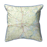 Logan Martin Lake, Alabama Nautical Chart 22 x 22 Pillow