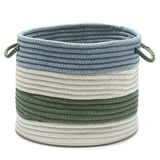 Marine Blue and Green Striped Grove Basket