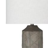 Oceanic Rustic Grey Table Lamp close up