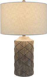 Oceanic Rustic Grey Table Lamp lamp on