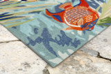 Bright Tropical Fish View Area Rug