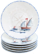 Sailboat Salad or Dessert Plates - Set of 6