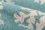 Aqua Coral Garden Area Rug close up