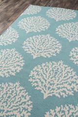 Aqua Coral Garden Area Rug floor image