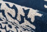 Navy Coral Garden Area Rug pile close up