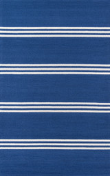 Maritime Blue Stripe Area Rug
