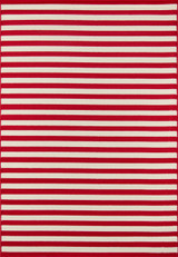 Red Stripe Baja Area Rug