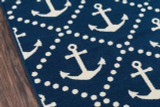 Anchors Away Navy Baja Area Rug