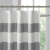 Spa Grey Striped Shower Curtain