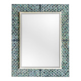 Tiburon Coastal Blue Mirror