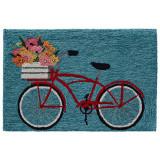 Go for a Bike Ride Blue Rug