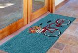 Go for a Bike Ride Blue Rug runner image
