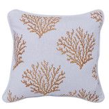 Embroidered Coral Pillow
