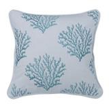 Embroidered Aqua Pillow